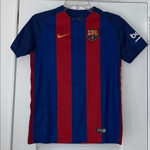 Nike Barcelona Authentic Soccer Jersey